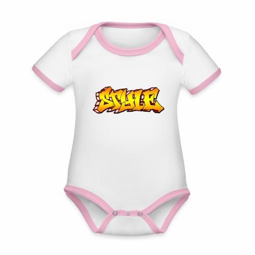 Camiseta estilo - Body contraste para bebé de tejido orgánico