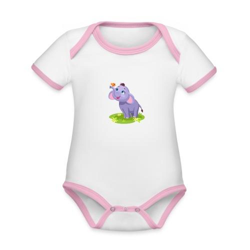 Dambo - Baby Bio-Kurzarm-Kontrastbody
