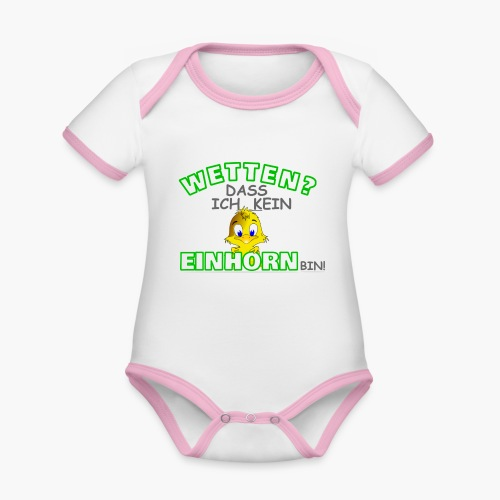 Wetten? Dass kein Einhorn bin! - Baby Bio-Kurzarm-Kontrastbody