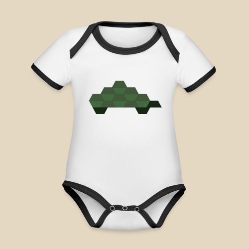 Turtle - Body Bébé bio contrasté manches courtes