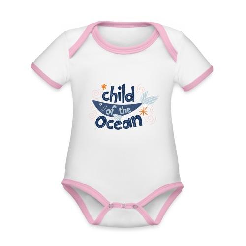 ChildOfTheOcean - Body Bébé bio contrasté manches courtes
