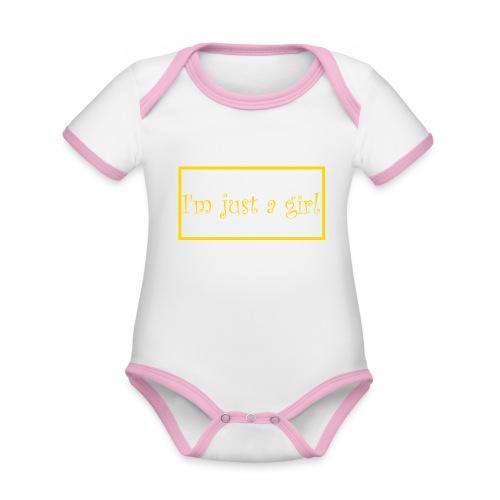 I' m just a girl #2 - Baby Bio-Kurzarm-Kontrastbody