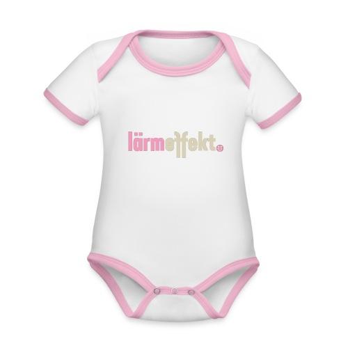 lärmeffekt Schriftzug pink - Baby Bio-Kurzarm-Kontrastbody
