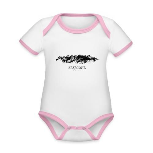 GoClassic   Resegone - Body da neonato a manica corta, ecologico e in contrasto cromatico