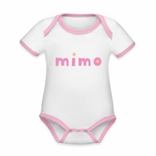mimo - Baby Bio-Kurzarm-Kontrastbody