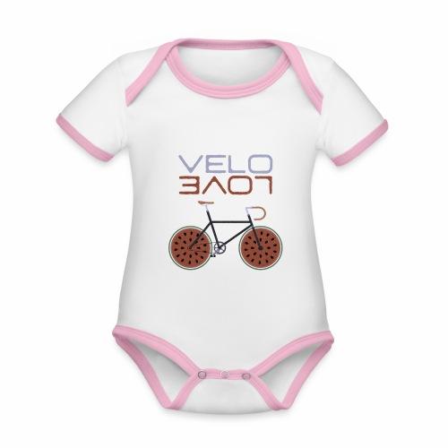 Melonen Bike Shirt Velo Love Shirt Rennrad Shirt - Baby Bio-Kurzarm-Kontrastbody