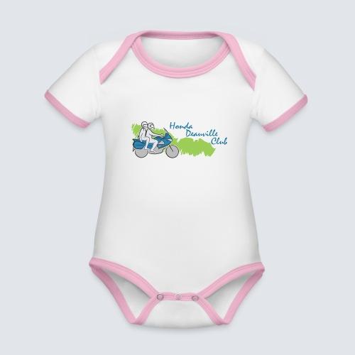HDC logo - Baby contrasterend bio-rompertje met korte mouwen