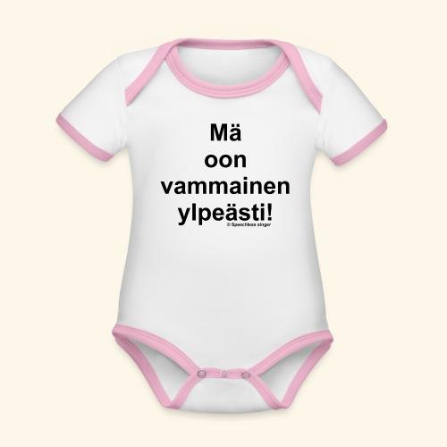 Ylpeästi vammainen - Vauvan kontrastivärinen, lyhythihainen luomu-body