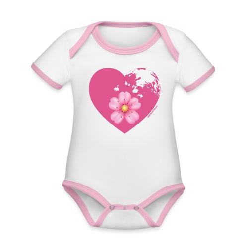GINNY GUN LENAS LOGO - Body da neonato a manica corta, ecologico e in contrasto cromatico