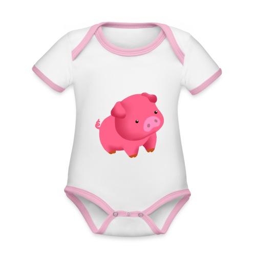 Camisa Cerdito - Body contraste para bebé de tejido orgánico