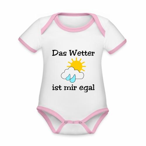 Das Wetter ist mir egal - Organic Baby Contrasting Bodysuit