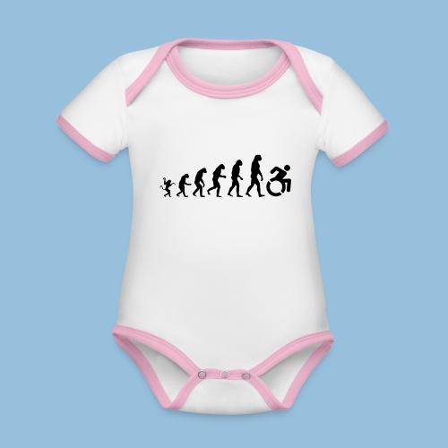 EvolutionWheelchair - Baby contrasterend bio-rompertje met korte mouwen