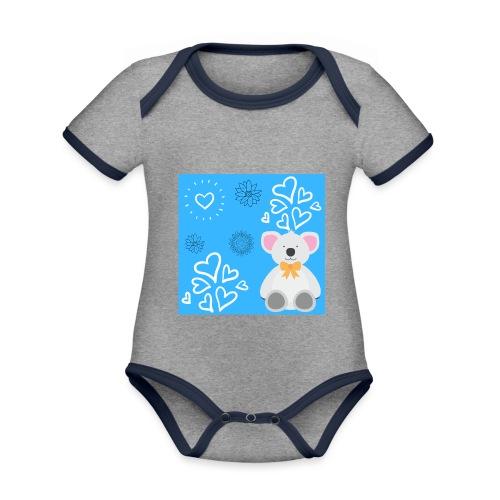I LOVE ORSETTI - Body da neonato a manica corta, ecologico e in contrasto cromatico
