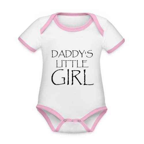 DADDY'S LITTLE GIRL - Baby Bio-Kurzarm-Kontrastbody