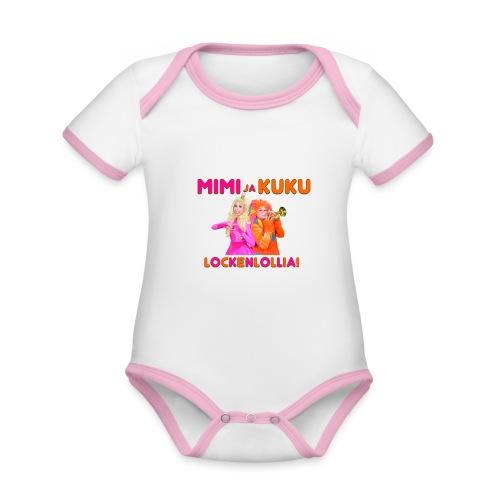 Mimi ja Kuku Lockenlollia - Vauvan kontrastivärinen, lyhythihainen luomu-body