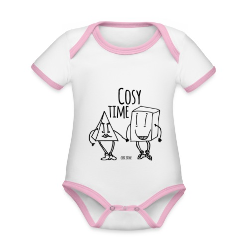 couple like that - Organic Baby Contrasting Bodysuit