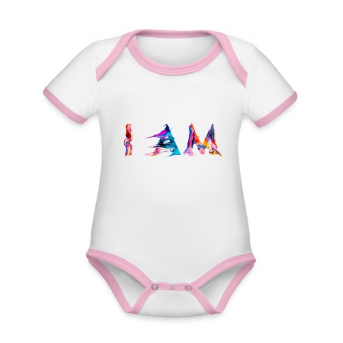 I AM - Body Bébé bio contrasté manches courtes