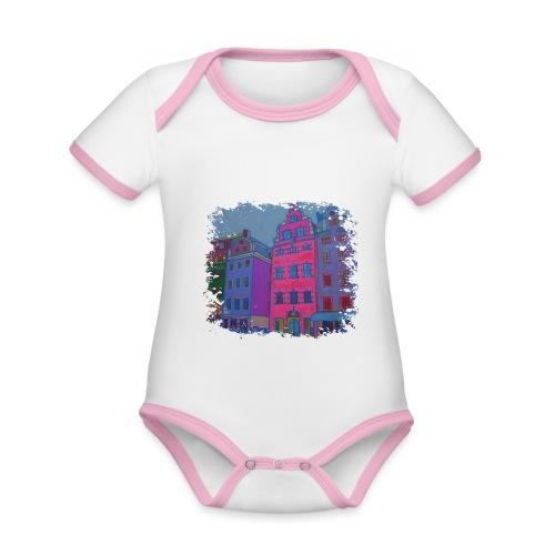 Stockholm - Baby Bio-Kurzarm-Kontrastbody