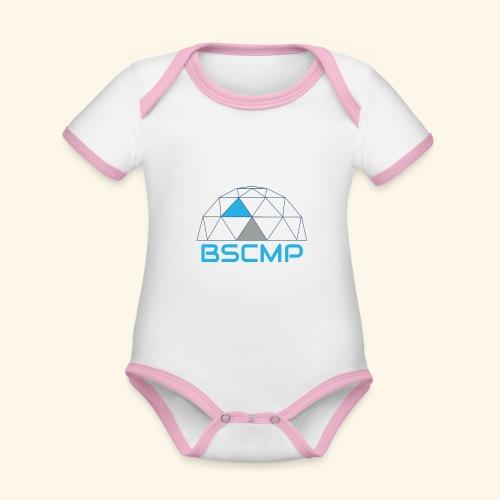 BSCMP - Baby contrasterend bio-rompertje met korte mouwen