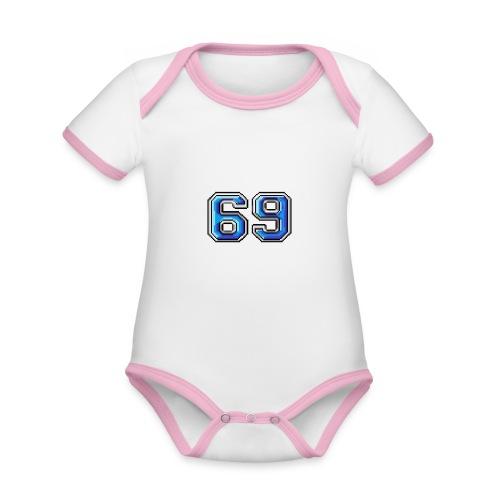 Immagine - Body da neonato a manica corta, ecologico e in contrasto cromatico