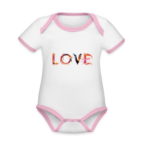 Love - Body Bébé bio contrasté manches courtes