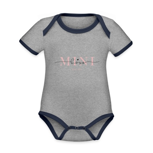 Kleiner Baby Boss 2021 - Baby Bio-Kurzarm-Kontrastbody