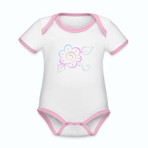 Tonalidades de en flor - Body contraste para bebé de tejido orgánico