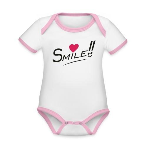 Sourit - Body Bébé bio contrasté manches courtes