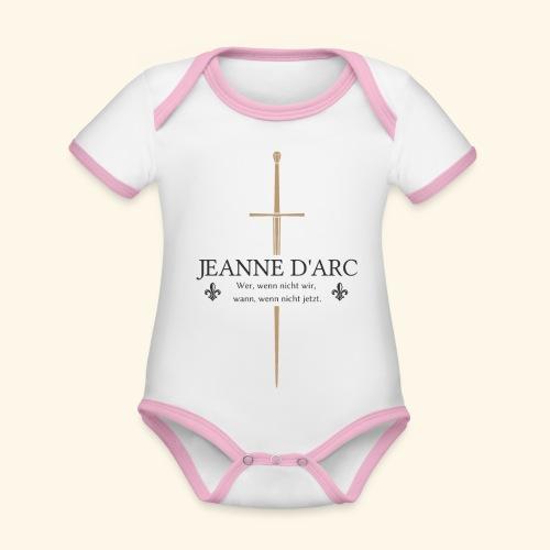 Jeanne d arc dark - Baby Bio-Kurzarm-Kontrastbody