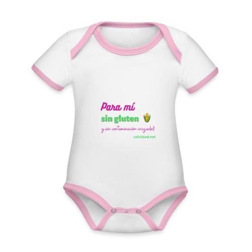 Para mí sin gluten y sin contaminación cruzada! - Body contraste para bebé de tejido orgánico