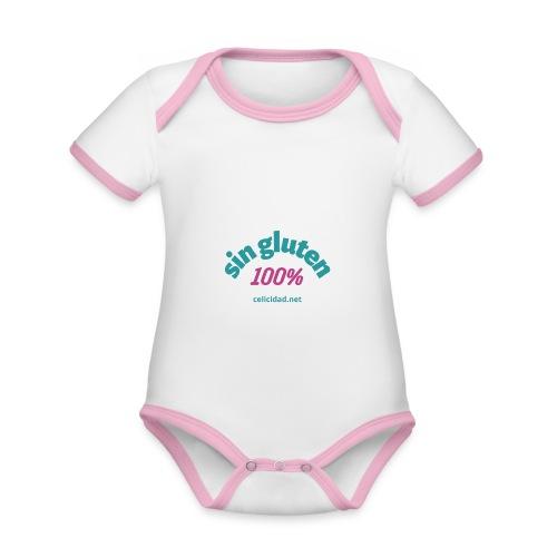 Sin Gluten 100% - Body contraste para bebé de tejido orgánico