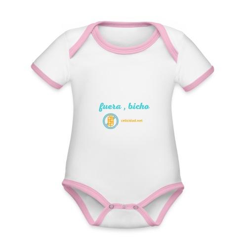 Fuera, bicho - Body contraste para bebé de tejido orgánico