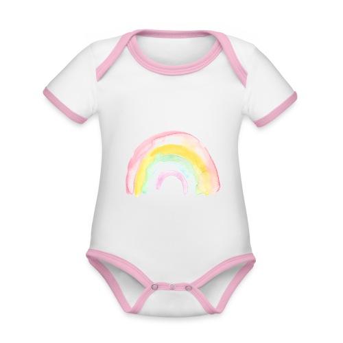 Pastell Rainbow - Baby Bio-Kurzarm-Kontrastbody