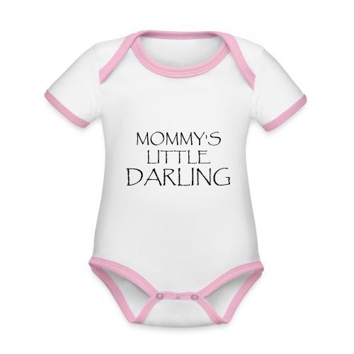 MOMMY'S LITTLE DARLING - Baby Bio-Kurzarm-Kontrastbody
