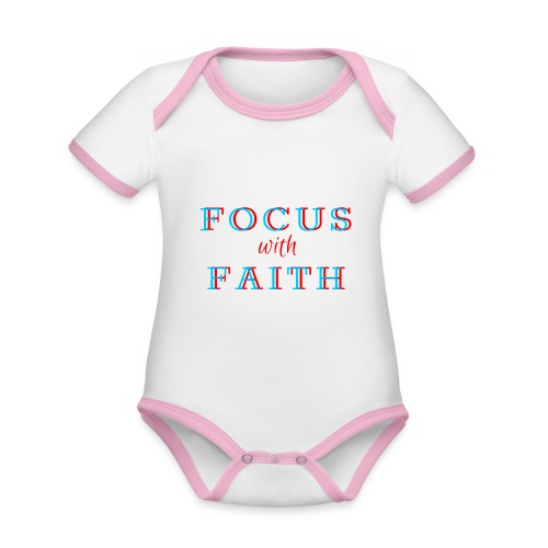 Focus with Faith - Organic Baby Contrasting Bodysuit