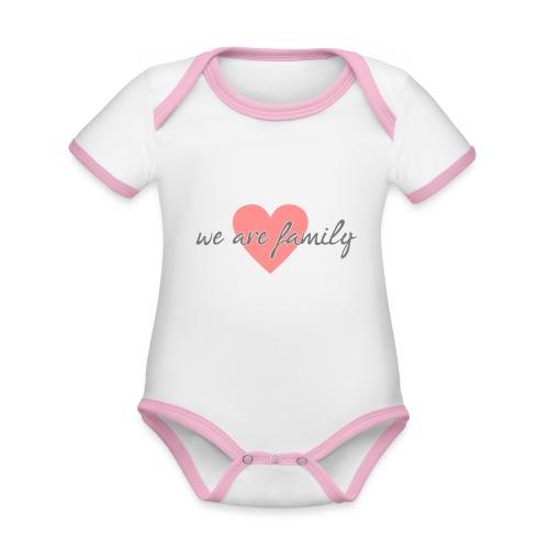 we are family 01 - Baby Bio-Kurzarm-Kontrastbody