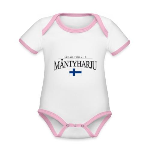 Suomipaita - Mäntyharju Suomi Finland - Vauvan kontrastivärinen, lyhythihainen luomu-body
