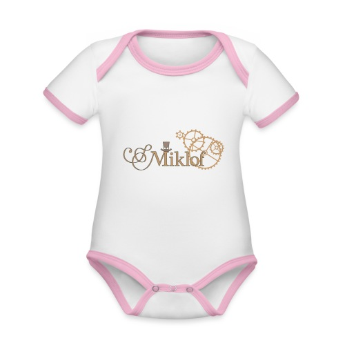 miklof logo gold outlined 3000px - Organic Baby Contrasting Bodysuit