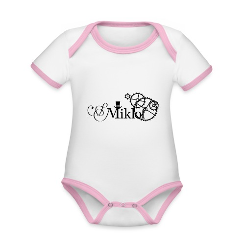 miklof logo black 3000px - Organic Baby Contrasting Bodysuit