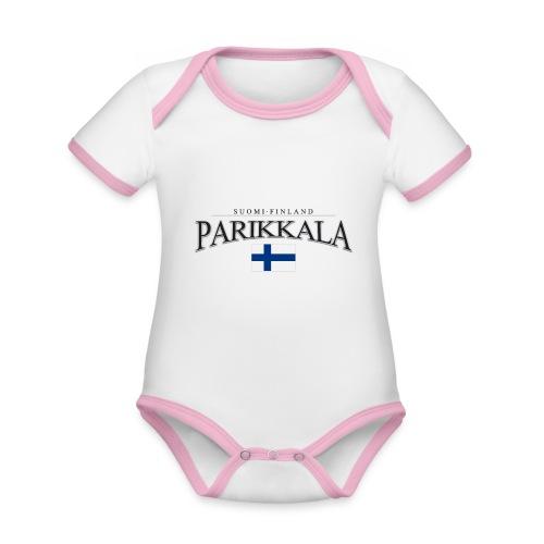 Suomipaita - Parikkala Suomi Finland - Vauvan kontrastivärinen, lyhythihainen luomu-body