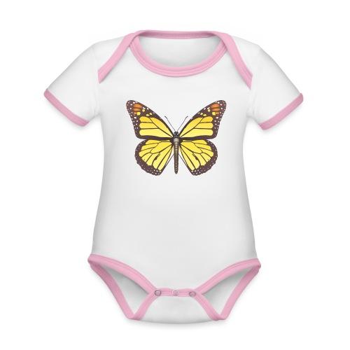 190520 monarch butterfly lajarindream - Body contraste para bebé de tejido orgánico