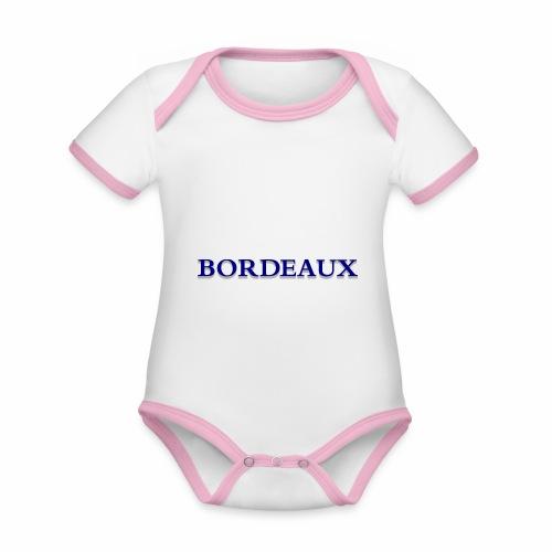 Bordeaux bleu - Organic Baby Contrasting Bodysuit