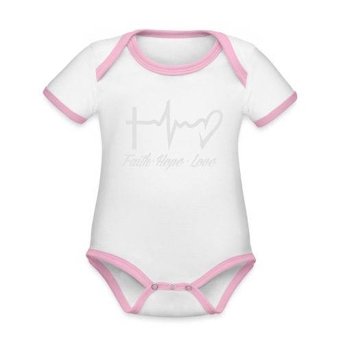 FAITH HOPE LOVE - Organic Baby Contrasting Bodysuit