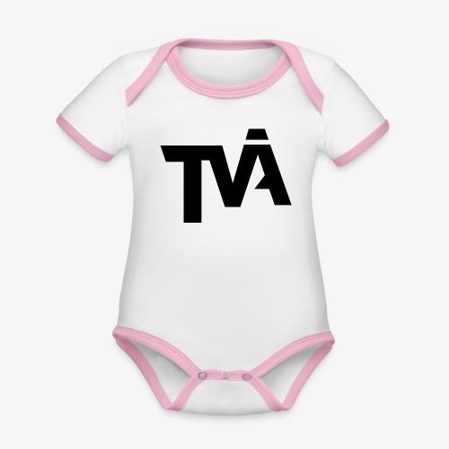 TVÅHUNDRA - Ekologisk kontrastfärgad kortärmad babybody