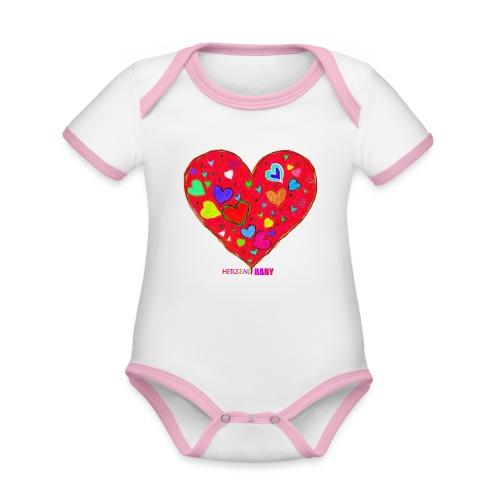 HerzensBaby - Baby Bio-Kurzarm-Kontrastbody