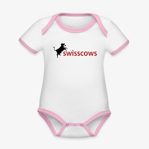 Swisscows - Baby Bio-Kurzarm-Kontrastbody