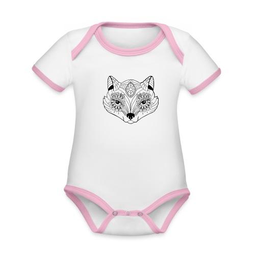 mandalafox - Vauvan kontrastivärinen, lyhythihainen luomu-body