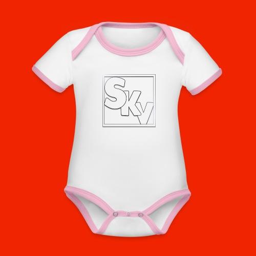 SerkanKetchupVlogs Logo (SKV Logo) - Baby contrasterend bio-rompertje met korte mouwen