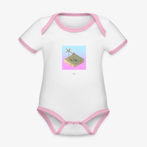 ISLAND #01 - Baby Bio-Kurzarm-Kontrastbody