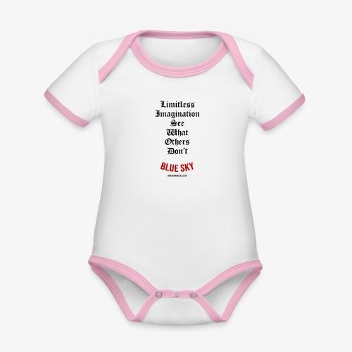 Limitless Imagination Zwart - Baby contrasterend bio-rompertje met korte mouwen